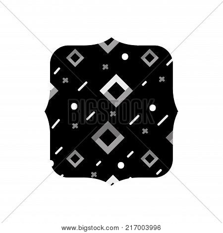 grayscale quadrate with graphic geometric style background vector illustration