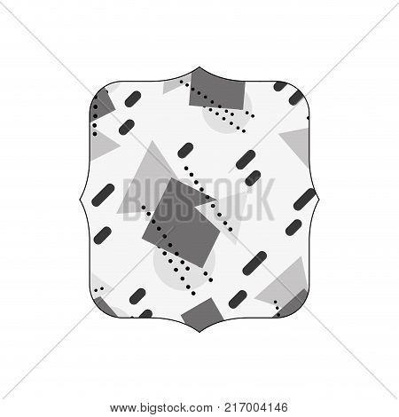 grayscale quadrate with graphic geometric art background vector illustration