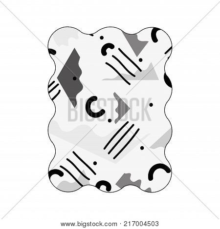 contour grayscale rectangle with graphic abstract style background vector illustration