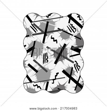 contour grayscale rectangle with graphic style figure background vector illustration
