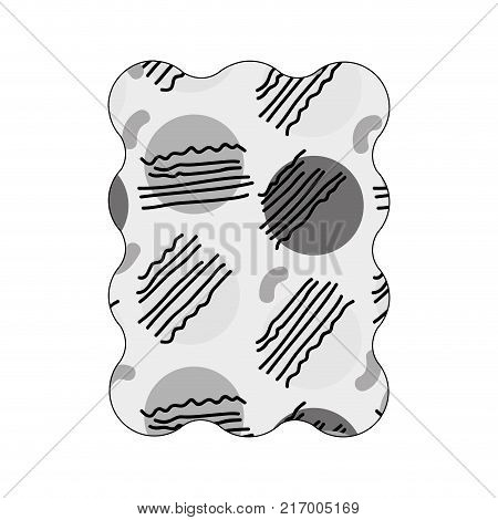 contour grayscale rectangle with graphic style geometric background vector illustration