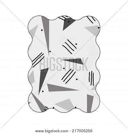 contour grayscale rectangle with style geometric figure background vector illustration