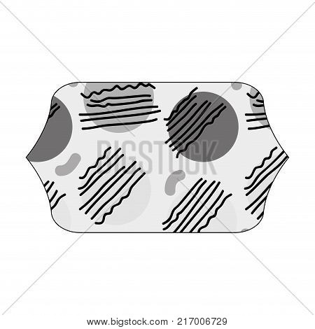 grayscale contour rectangle with graphic style geometric background vector illustration