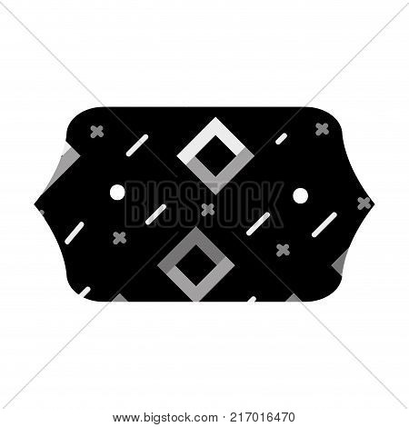 grayscale contour rectangle with graphic geometric style background vector illustration
