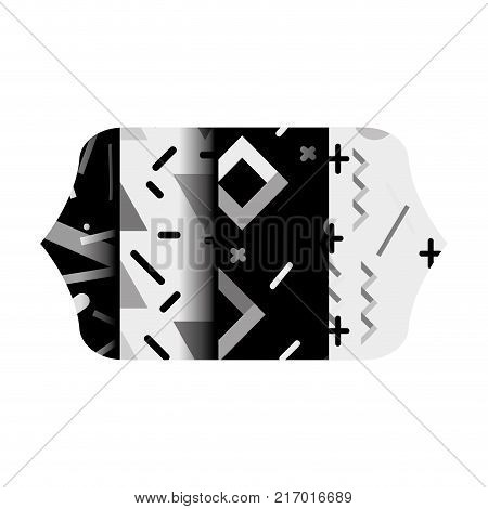 grayscale contour rectangle with graphic style abstract background vector illustration