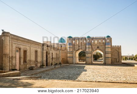 Northern gate of the fortress Dishan-Kala the outer town of Khiva Uzbekistan