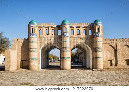 Northern gate of the fortress of Dishan-Kala the outer town of Khiva Uzbekistan
