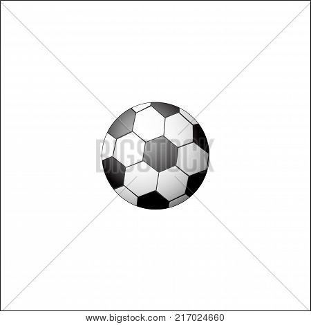 Traditional soccer, football ball, realistic vector illustration isolated on white background. Flat style realistic black and white soccer, football ball