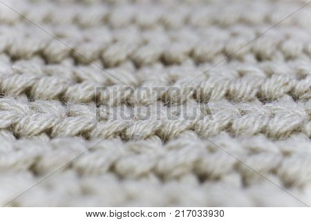 White wool close up. Wool texture. Wool background. Photo stock.