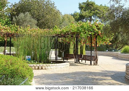Park Ramat Hanadiv Memorial Gardens of Baron Edmond de Rothschild, Zichron Yaakov, Israel