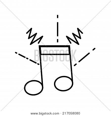 line musical note sign to rhythm sound vector illustration