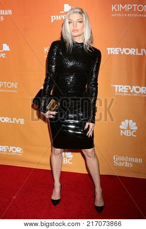LOS ANGELES - DEC 3:  Fergie, Stacy Ann Ferguson at the 2017 TrevorLIVE Los Angeles at Beverly Hilton Hotel on December 3, 2017 in Beverly Hills, CA
