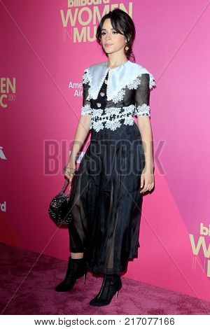 LOS ANGELES - NOV 30:  Camila Cabello at the 2017 Billboard Women in Music at the Ray Dolby Ballroom on November 30, 2017 in Los Angeles, CA