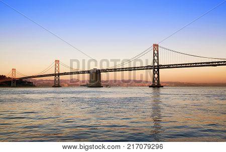 Oakland Bay Bridge in the evening, San Francisco