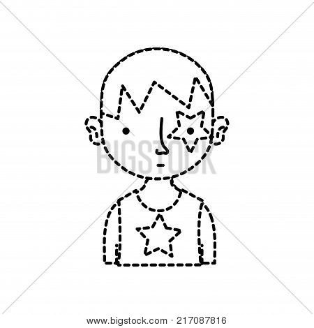 Dotted Shape Boy Vector Photo Free Trial Bigstock