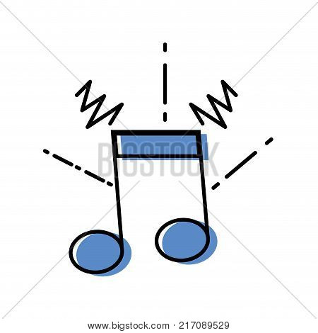 color musical note sign to rhythm sound vector illustration