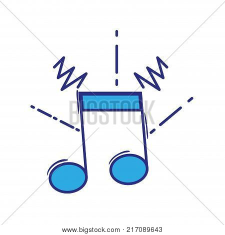 full color musical note sign to rhythm sound vector illustration