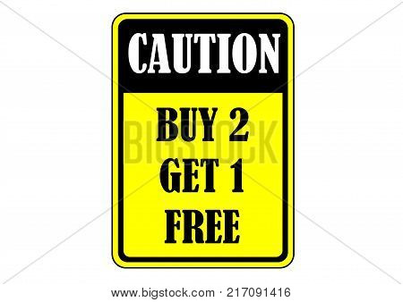 buy two get one free sales promotion banner
