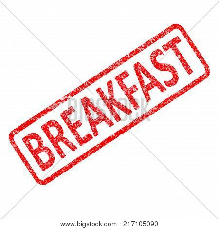 grunge under breakfast rubber stamp on white background. breakfast stamp sign. breakfast symbol.