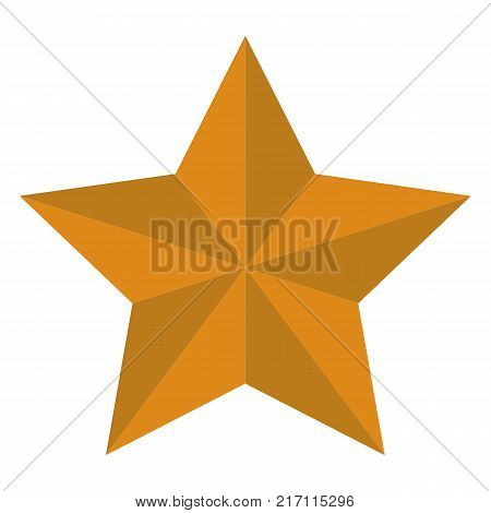 yellow star on white background. flat style. star sign. modern star symbol.