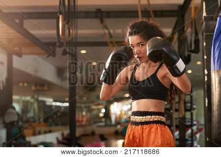 Female Muay Thai boxer is ready to hit