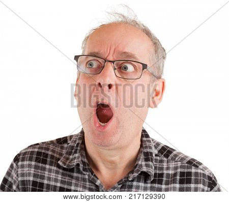 Man is in shocked about something