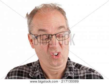 Man fussy about something