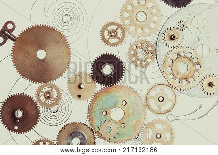 Mechanical clocks details, gears as a fantasy device