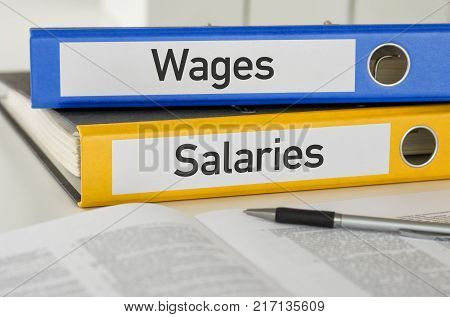 Folders With The Label Wages And Salaries