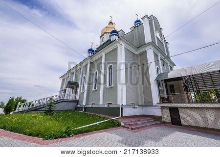 Main church in St John the Theologian Orthodox male monastery in Khreshchatyk Ukraine