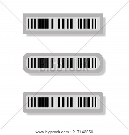 Vector image of magnetic bar codes on goods