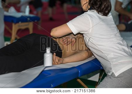 Athlete's Back Massage After Fitness Activity: Wellness And Sport