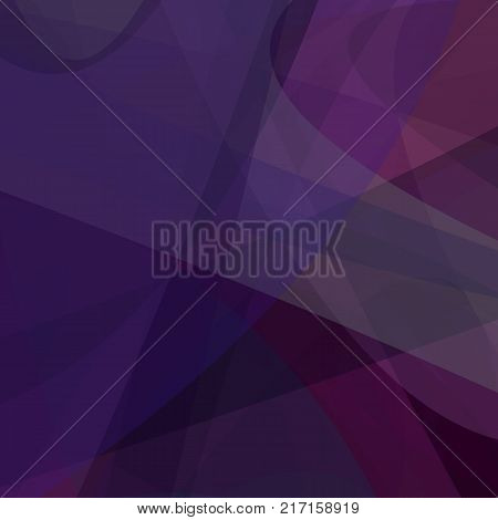 Purple abstract background from dynamic curves - vector design