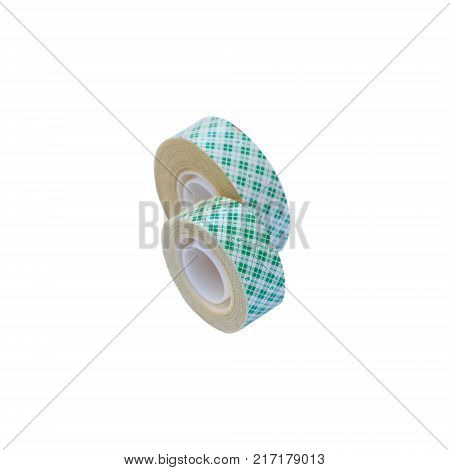 double sided tape isolated on white background