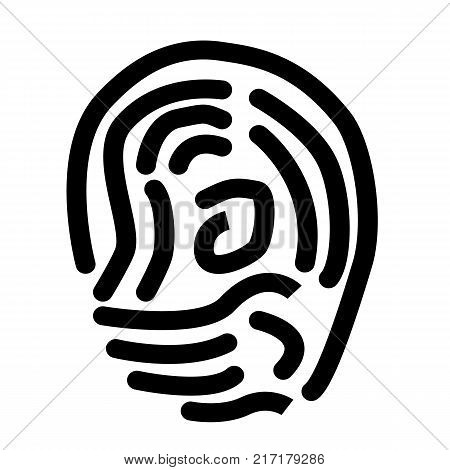 scan thumb icon on white background. scan thumb sign. flat style. scan thumb symbol.