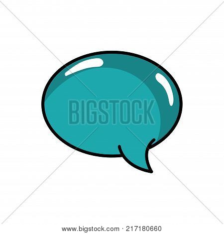 oval chat bubble art text message vector illustration