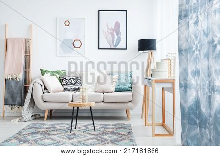 Patterned Carpet In Daily Room