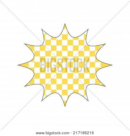 full color star chat bubble note message style vector illustration