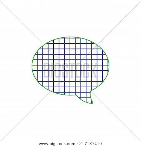 color line oval chat bubble text message style vector illustration