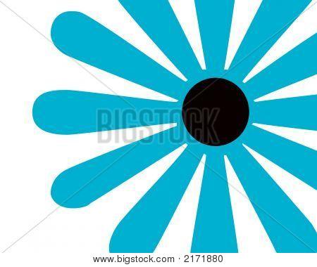 Retro Turquoise Flower Design