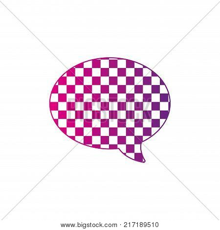 color silhouette oval chat bubble text message style vector illustration
