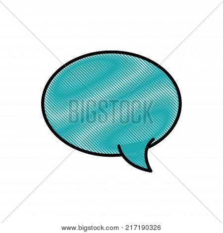 grated oval chat bubble art text message vector illustration
