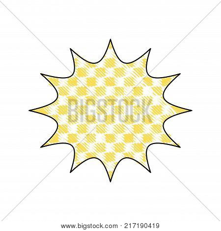 grated star chat bubble note message style vector illustration