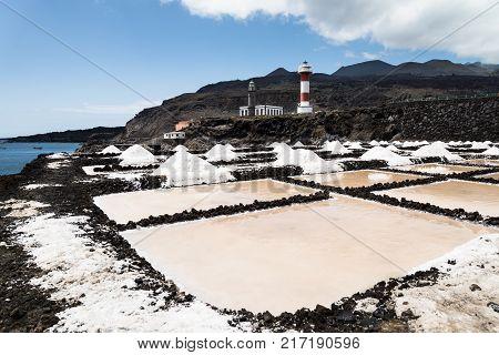 The famous Salinas Teneguía on the island of La Palma.