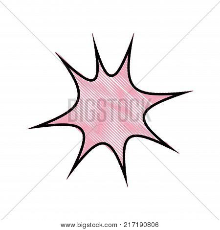 grated star chat bubble art note message vector illustration