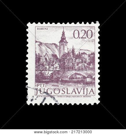 YUGOSLAVIA - CIRCA 1981 : Cancelled postage stamp printed by Yugoslavia, that shows Bohinj.