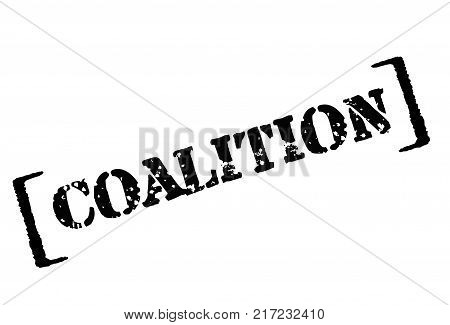 COALITION. Typographic stamp visualisation concept Original series.