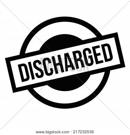 Discharged. Typographic stamp visualisation concept Original series.