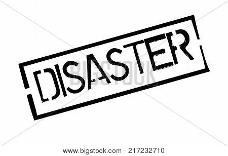Disaster. Typographic stamp visualisation concept Original series.