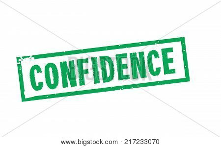 Confidence. Typographic stamp visualisation concept Original series.